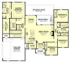 Large House Blueprints Plan 36031dk Craftsman House Plan With Angled Garage