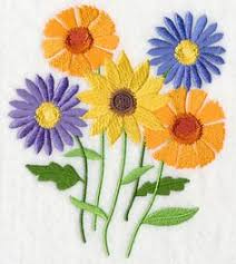 Flower Designs For Embroidery Branch Of Flowers Free Machine Embroidery Design Embroideries