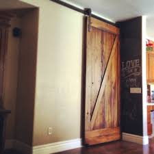 Door Pattern Reclaimed Mixed Hardwood Sliding Barn Door Z Pattern Low Clearance