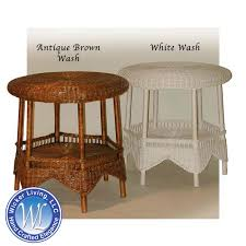 round wicker end table end tables wicker large round end table
