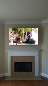 Tv Mount Over Fireplace by Tv Mounted Over Fireplace Using Mount From Dynamicmounting Com
