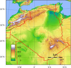Map Of Libya Algeria Topographic Map U2022 Mapsof Net