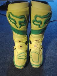 motocross boots for sale fox racing le yellow green instinct boots size 9 for sale bazaar