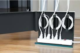 organize cords on desk 4 ways to disguise unsightly cords how to organize cords organize
