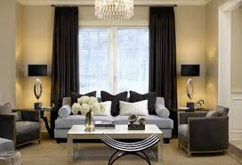 Living Room Curtains Silk Curtains Prodigious Silver N Black Curtains Cool Black And