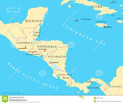 United States Map With Rivers Lakes And Mountains by Central America Political Map Stock Vector Image 39076460