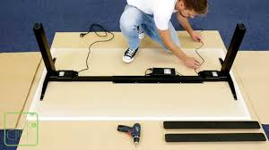 Office Desk by Linak Kick U0026 Click How To Easily Assemble An Office Desk