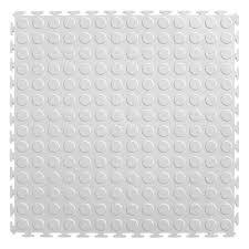 White Pvc Trellis Ittile Studded Pvc Interlocking Tiles 8 Pk Hayneedle