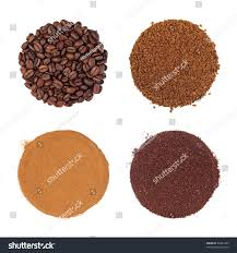 espresso ground coffee coffee beans instant espresso cream ground stock photo 56881495