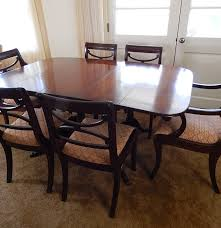 mahogany duncan phyfe styled dining table and chairs ebth mahogany duncan phyfe styled dining table and chairs