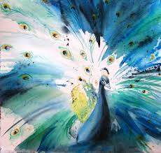 Silk Peacock Home Decor Peacock Watercolor Home Decor That I Love Pinterest Peacocks