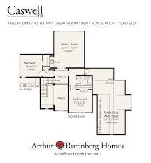 4 bedroom floor plans with bonus room caswell home plan lake norman home builders