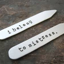 aluminum gifts i belong to personalized collar stays aluminum mens