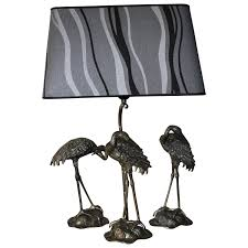 Bird And Branch Table Lamp by Maison Jansen Table Lamp And Statues Crane For Sale At 1stdibs