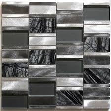 carrelage cuisine mosaique dalle mosaique aluminium et verre carrelage cuisine crédence ceti gris