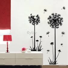 Flower Wall Decals For Nursery by Large Black Dandelion Wall Stickers Art Room Decor Wall Decals