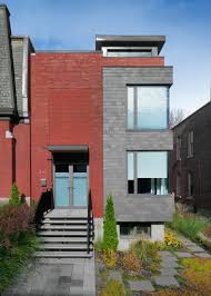 a semi detached house on a hill in montreal design milk a semi detached house on a hill in montreal