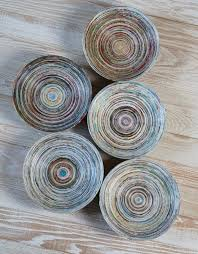 home decor trade magazines recycled coiled paper bowl magazine bowl recycled magazines and