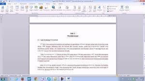 cara menulis latarbelakang skripsi tutorial menomori halaman berbeda pada makalah karya tulis di