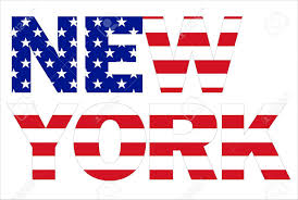 New York Flag New York Text Written With Usa Flag Stock Photo Picture And