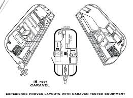 Caravan Floor Plans The Land Yacht Series Vintage Airstream Trailer Floor Plans
