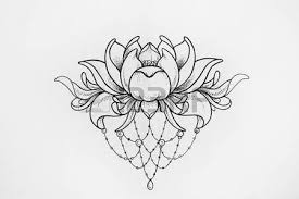 sketch of a beautiful phoenix with flowers stock photo picture