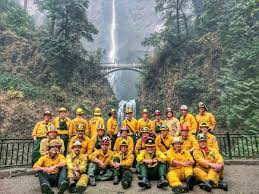 Wildfire Areas by Good News Multnomah Falls Is Still Green And Mostly Unscathed