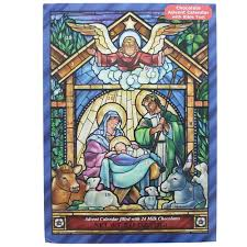 chocolate advent calendar stained glass nativity advent calendar with chocolate the