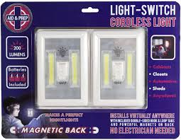 battery operated led lights 2 pack cabinet shelf closet