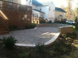 Patio And Walkway Designs by Landscape Installation Projects Before And After Richmond Va