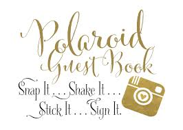 poloroid guest book guestbook sign wedding re enhance dental co