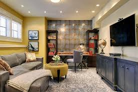 luxury basement office design in interior home paint color ideas