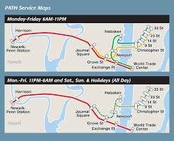 hudson bergen light rail map maps path the port authority of ny nj