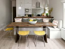 kitchen sticking with the basics breakfast nook idea with set of