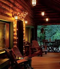 log cabin outdoor lighting log cabin porch at night log cabins cabins farm houses
