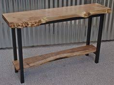 X Base Console Table Live Edge Walnut Console Table U0026 Steel Base By Michaelheuser