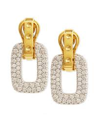 yellow gold earrings roberto coin pois moi diamond square dangle drop earrings yellow gold