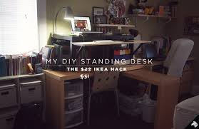 Diy Stand Up Desk Ikea My Diy Standing Desk The 22 31 Ikea Hack Imaginary Zebra Iz