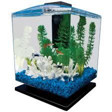 Asian Themed Fish Tank Decorations Tetra Aquarium Cube Tank 1 5 Gal Walmart Com