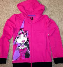 monster high u0027s hoodie draculaura jacket 7 8 new style with