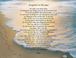 footprints in the sand gifts the footprints in the sand poem christian poem