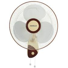 Large Oriental Wall Fans by Havells Swanky 400mm 3 Blade Wall Fan Brown Wall Fans Homeshop18