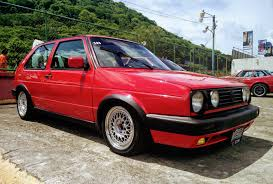 volkswagen red salvadorean vw golf mk2 gti red clasiccone2017 elsalvador