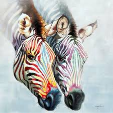 colorful zebra u0027s illustartion pinterest zebra art animal