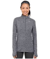 nike dri fit element half zip in blue lyst