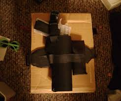 cheap airsoft pistol thigh holster 4 steps