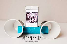 check out what your kids can make diy speakers