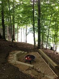 diy backyard fire pit set it down below the other grass in the