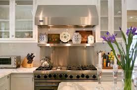 stainless kitchen backsplash stainless steel backsplash with shelf design ideas