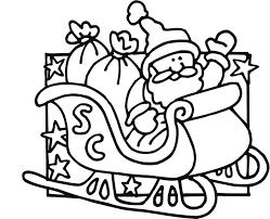 coloring pages to print of santa santa sleigh coloring page sleigh coloring page and his sleigh